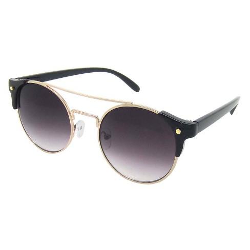 8091c31a60 Women s Round Sunglasses - Black   Target