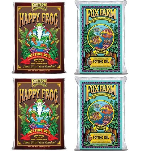 FoxFarm Ocean Forest Garden Soil Mix (2) + Happy Frog Organic Potting Soil (2) - image 1 of 4