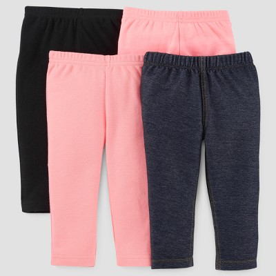 Baby Girls' 4pk Pants - Just One You™ Made by Carter's® Pink 6M