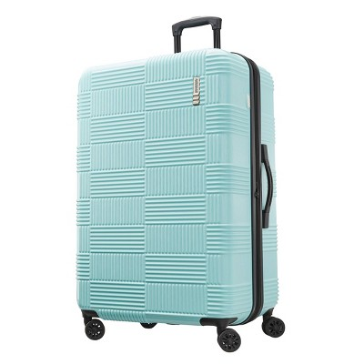 American Tourister 28  Checkered Hardside Spinner Suitcase - Mint Green