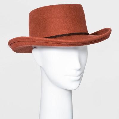 Women's Felt Boater Hat - Universal Thread™ Rust