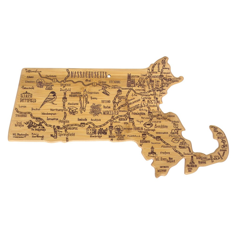 Compare Totally Bamboo Destination Massachusetts Serving and Cutting Board