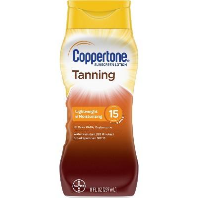 Coppertone Tanning Sunscreen Lotion - SPF 15 - 8oz