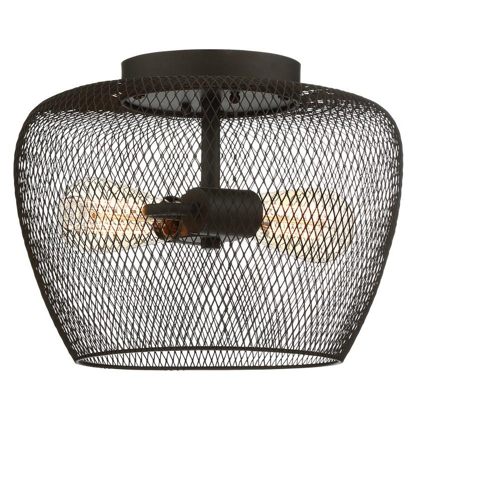 Image of Ceiling Lights Semi-Flush Mount Dark Metallic Bronze - Aurora Lighting