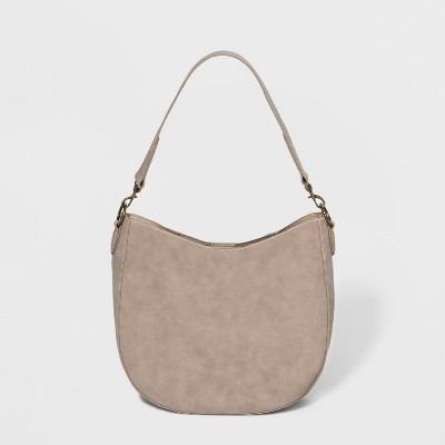 976450ed3f Unlined Hobo Handbag - Universal Thread™ Taupe