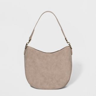 Unlined Hobo Handbag - Universal Thread™ Taupe