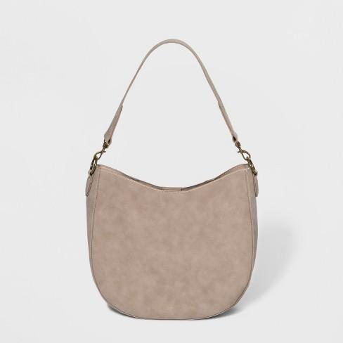 Unlined Hobo Handbag - Universal Thread™ Taupe - image 1 of 3