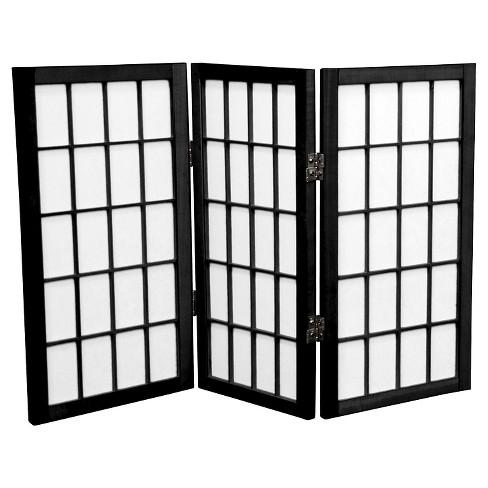 2 ft. Tall Desktop Window Pane Shoji Screen (3 Panels) - Oriental Furniture - image 1 of 1