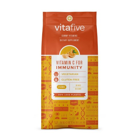 Vitafive Immunity Vitamin C Gummy - 60ct - image 1 of 4