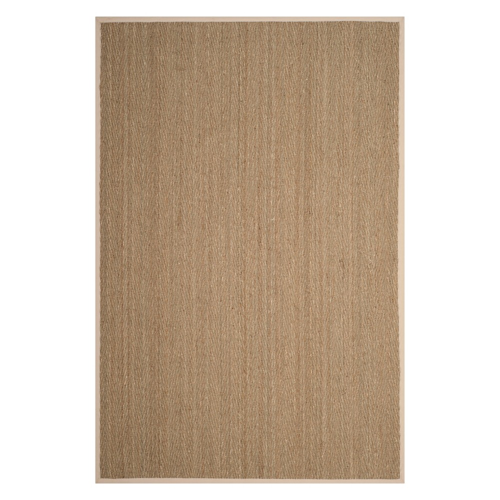 6'X9' Solid Loomed Area Rug Natural/Ivory - Safavieh