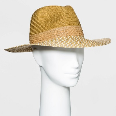 Women's Straw Fedora Hat - A New Day™ - Natural