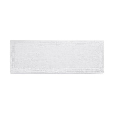 "24""x72"" Splendor Cotton Tufted Reversible Bath Rug White"