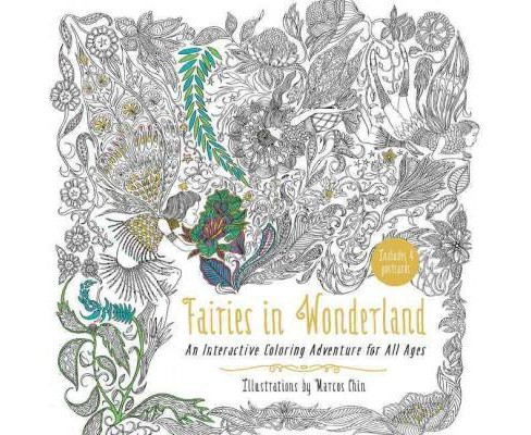Fairies in Wonderland Adult Coloring Book : An Interactive Coloring Adventure for All Ages (Paperback) - image 1 of 1