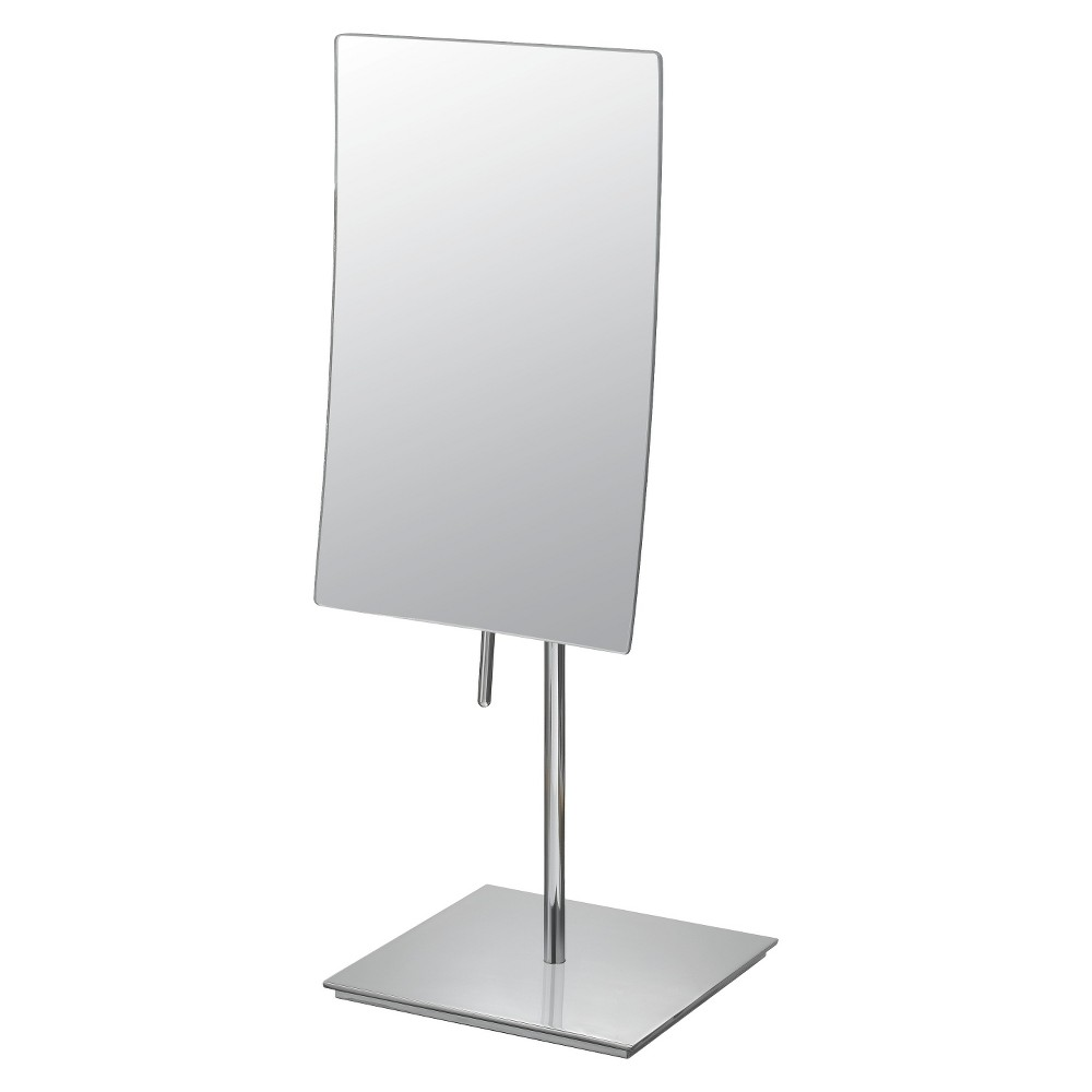 "Image of ""Bathroom Mirror Image Minimalist Rectangular Vanity Bathroom Mirror 5""""x8"""" Chrome - Aptations, Chorme"""