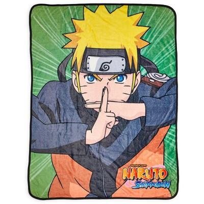 Just Funky Naruto Shippuden Naruto Uzumaki Character Fleece Throw Blanket | 60 x 45 Inches