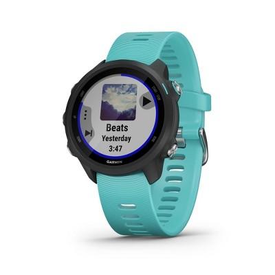 Garmin Forerunner 245 GPS Running Smartwatch with Music - Aqua