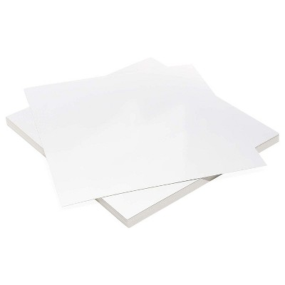 Bright Creations 48 Sheets Metallic Silver Cardstock Card Stock Paper for Arts Crafts, Square Size 12 x 12 in