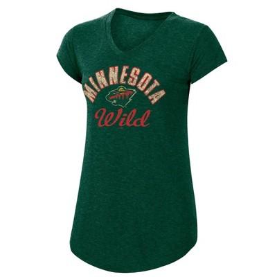 NHL Minnesota Wild Women's Team Pride V-Neck T-Shirt
