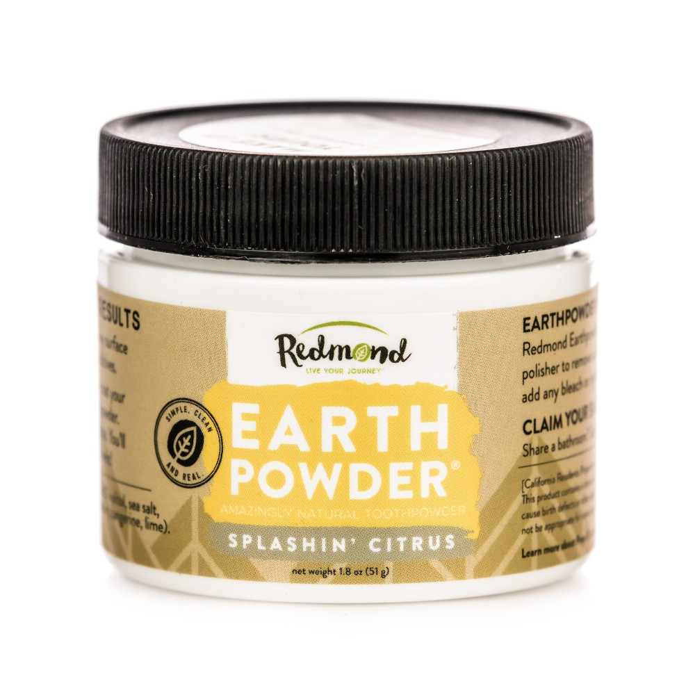 Image of Redmond Earthpowder Splashin' Citrus Toothpowder - 1.8oz