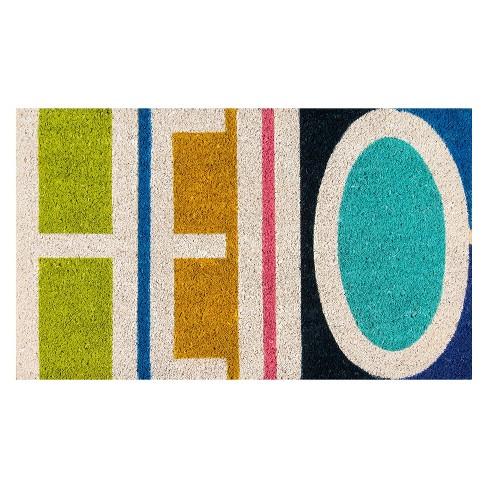 Aloha Hello Coir Doormat - Novogratz by Momeni - image 1 of 3