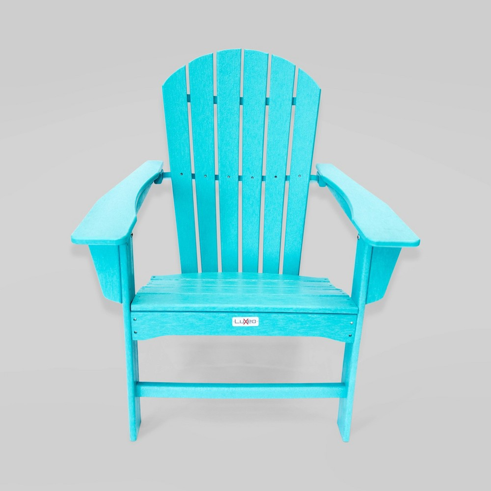 Image of Hampton Aruba Patio Adirondack Chair Blue- LuXeo