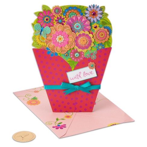 Papyrus Floral Diecut Bouquet Greeting Card - image 1 of 4