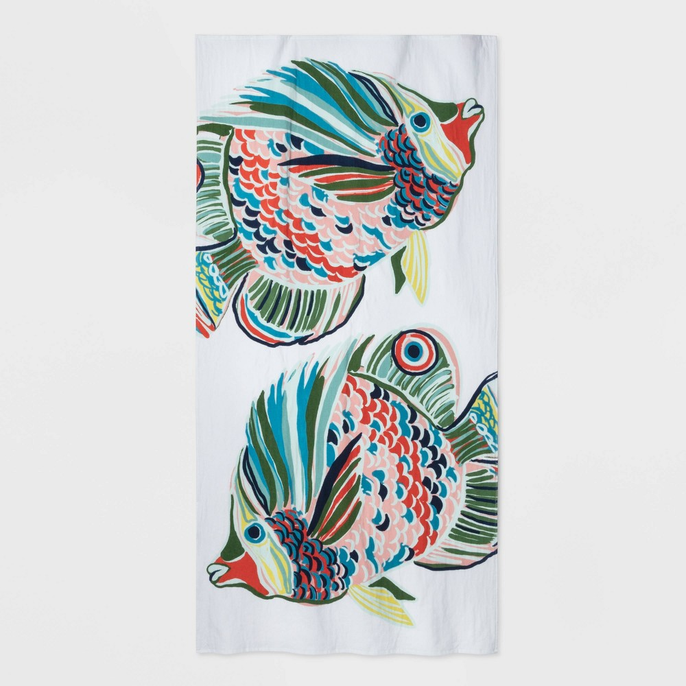 XL Flat Weave Beach Towel Fish - Opalhouse was $18.0 now $9.0 (50.0% off)