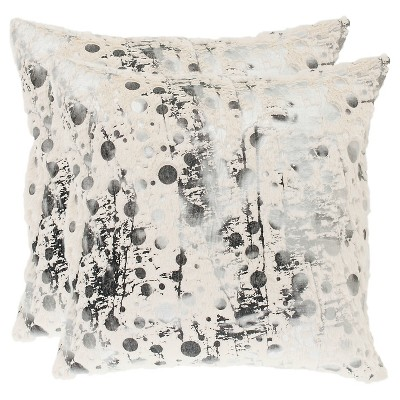 White & Black Nars Throw Pillows / - 2 Pack - (22 x22 )- Safavieh®