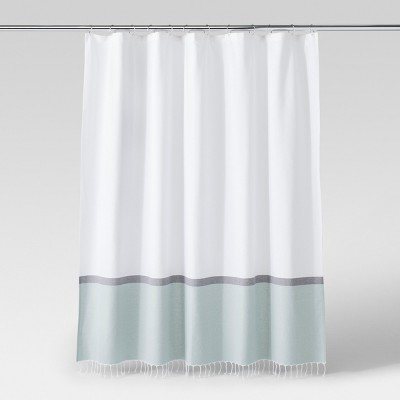 Woven Shower Curtain Green/White - Project 62™