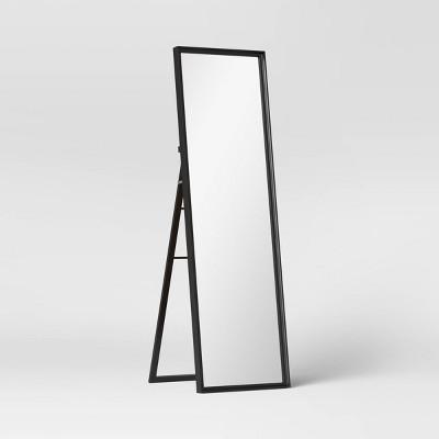 "18"" x 65"" Classic Wood Mirror Black - Threshold™"
