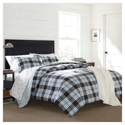Atlantic Blue Lewis Plaid Comforter Set - Eddie Bauer®