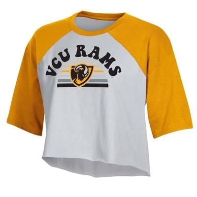 NCAA VCU Rams Women's Short Sleeve Cropped T-Shirt