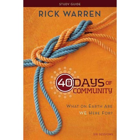 40 Days of Community - by  Rick Warren (Paperback) - image 1 of 1