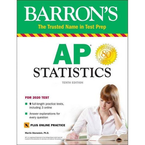 AP Statistics with Online Tests - (Barron's Test Prep) 10 Edition by  Martin Sternstein (Paperback) - image 1 of 1