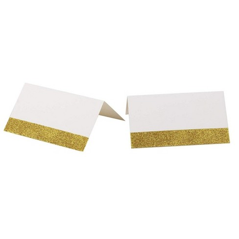 Gold Glitter Tent Seating Place Cards (2 x 3.5 Inches, 100-Pack) - image 1 of 3