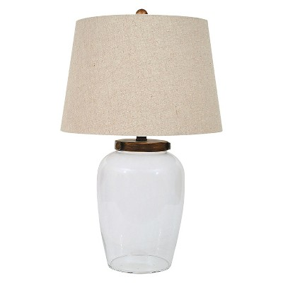 Glass Fillable Table Lamp with Shade - 3R Studios