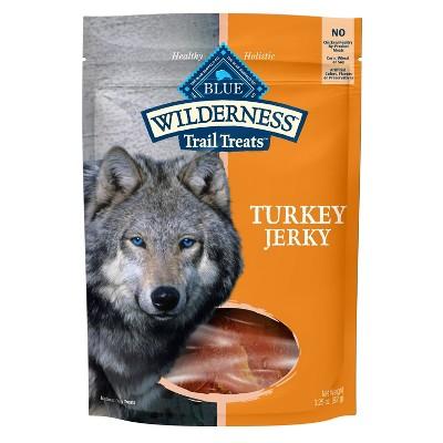 Blue Buffalo Wilderness 100% Grain-Free Turkey and Chicken Jerky Dog Treats - 3.25oz