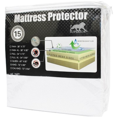 Hypoallergenic and Waterproof Cotton Mattress Protector - Blue Nile Mills