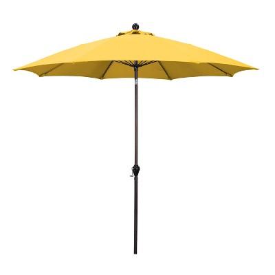 9u0027 Aluminum Patio Umbrella   Yellow