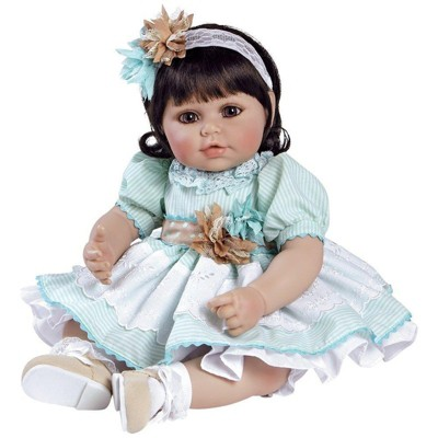Adora Toddler Doll Honey Bunch Doll with a Stretch lace Headband Decorated with Hand Made Fabric Flowers