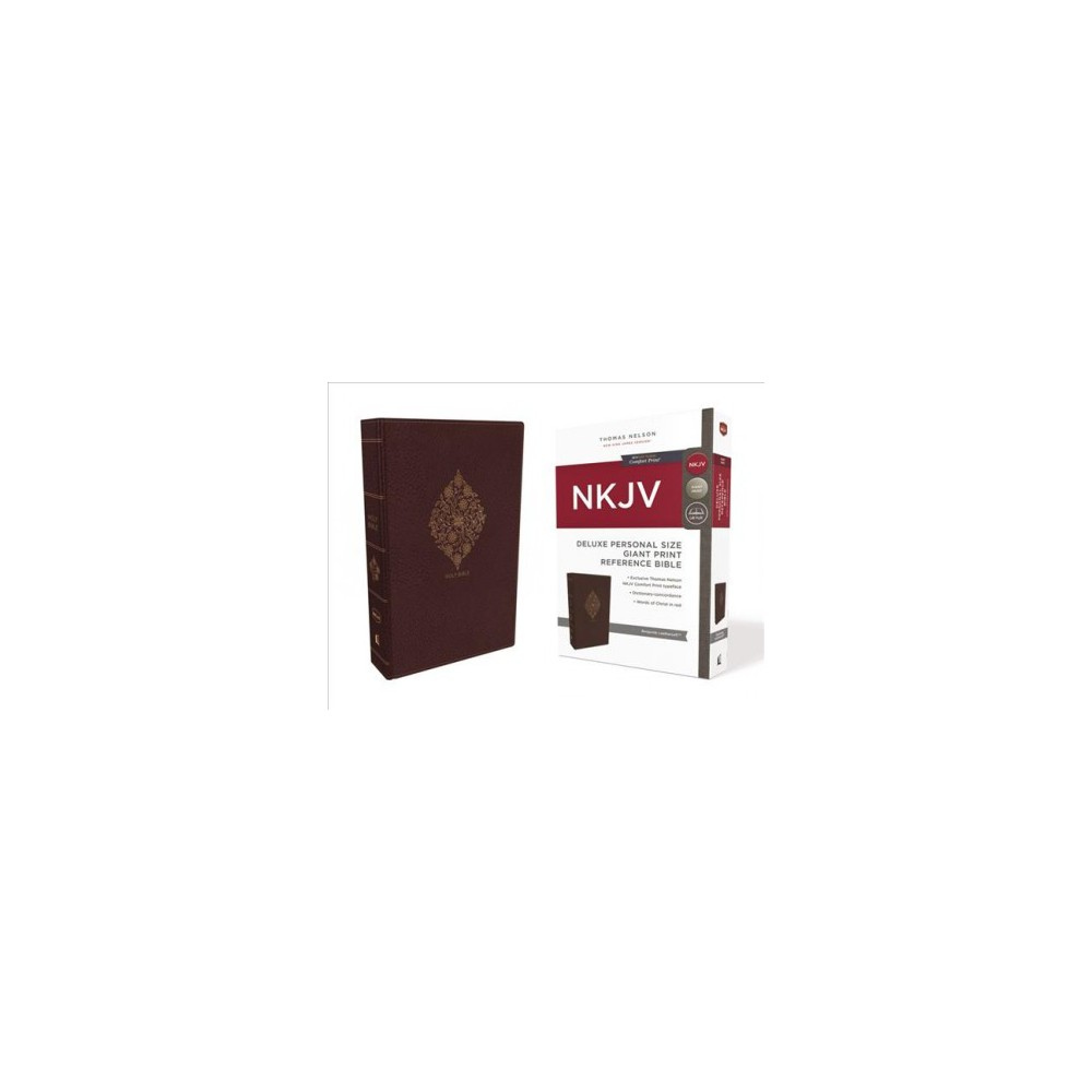 Holy Bible : New King James Version, Burgundy Leathersoft, Personal Size, Giant Print Reference, Red