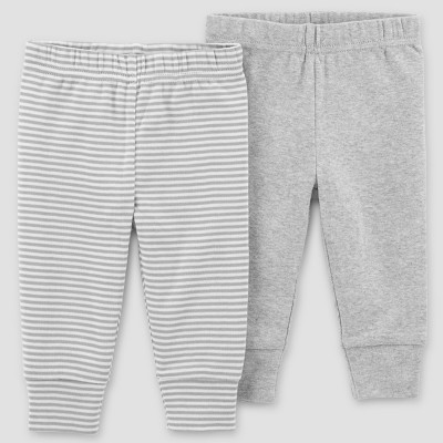 Baby 2pk Solid Pants - Just One You® made by carter's Gray Preemie