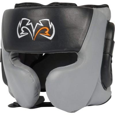 Rival Boxing RHG30 Mexican Style Cheek Protector Training Headgear - Black/Gray