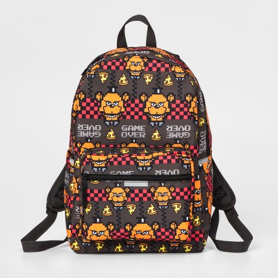 """Five Nights at Freddy's 16.5"""" Kids' Backpack - Brown/Red"""