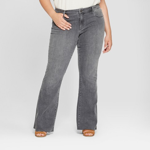 Women's Plus Size Flare Jeans - Universal Thread™ Gray - image 1 of 3