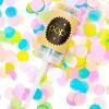 6 Pack Colorful Push Pop Confetti Canons Poppers with 6 Bag Refills, for Wedding Bridal Shower Baby Shower Party Supplies - image 2 of 3