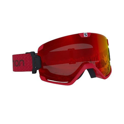 2daa732946a Salomon Cosmic Photo Red Over The Glass Fog Free Skiing Snowboarding Goggles    Target