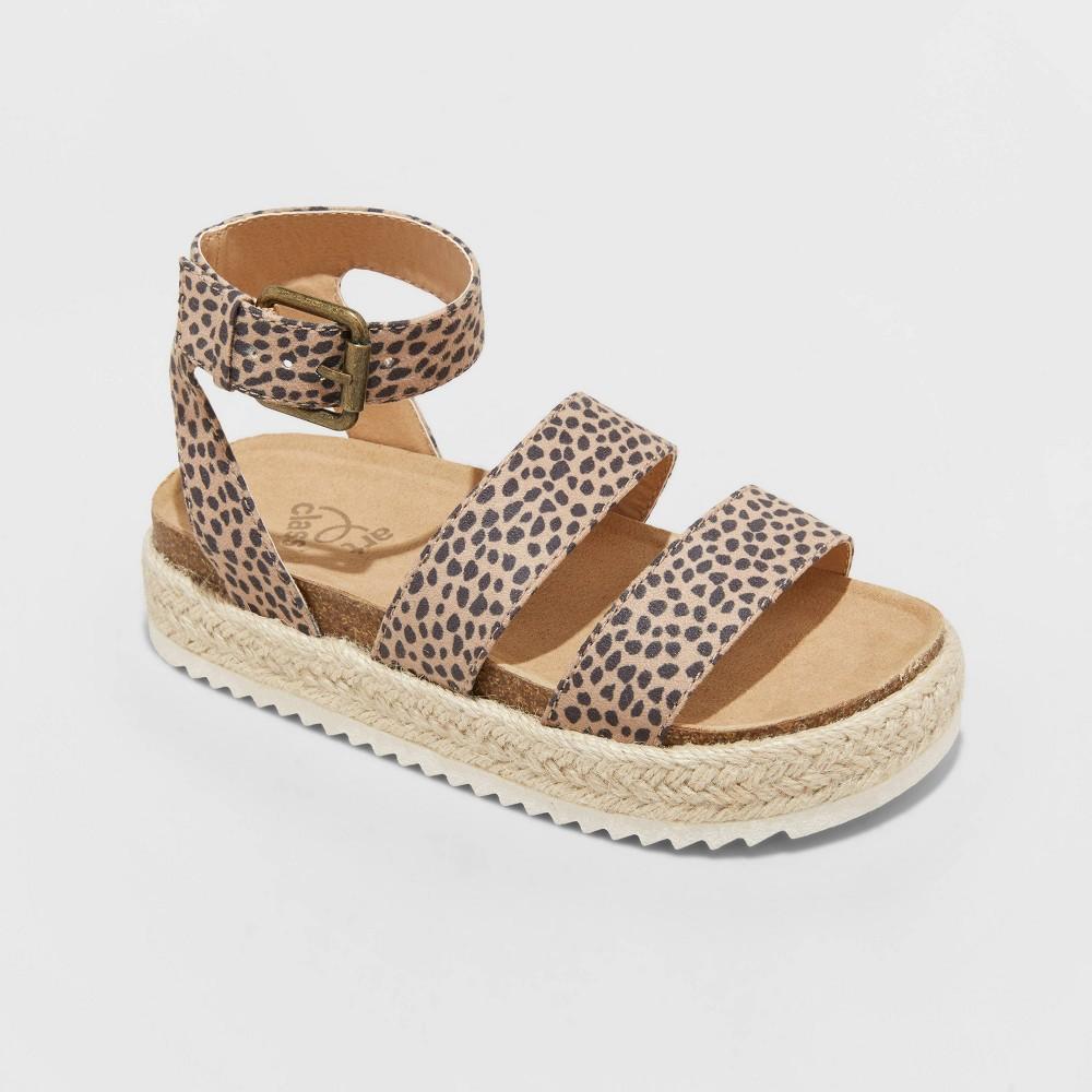 Girls 39 Agatha Buckle Footbed Sandals Art Class 8482 Tan 13