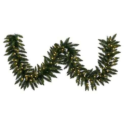 50Ft. Christmas Camdon Fir Garland With LED Lights - Green - image 1 of 1