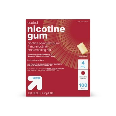 Coated Nicotine 4mg Gum Stop Smoking Aid - Cinnamon - Up&Up™ - image 1 of 4